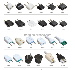universal travel adapter male and female industrial plug socket 2 round electric pin plug convert to 2 flat