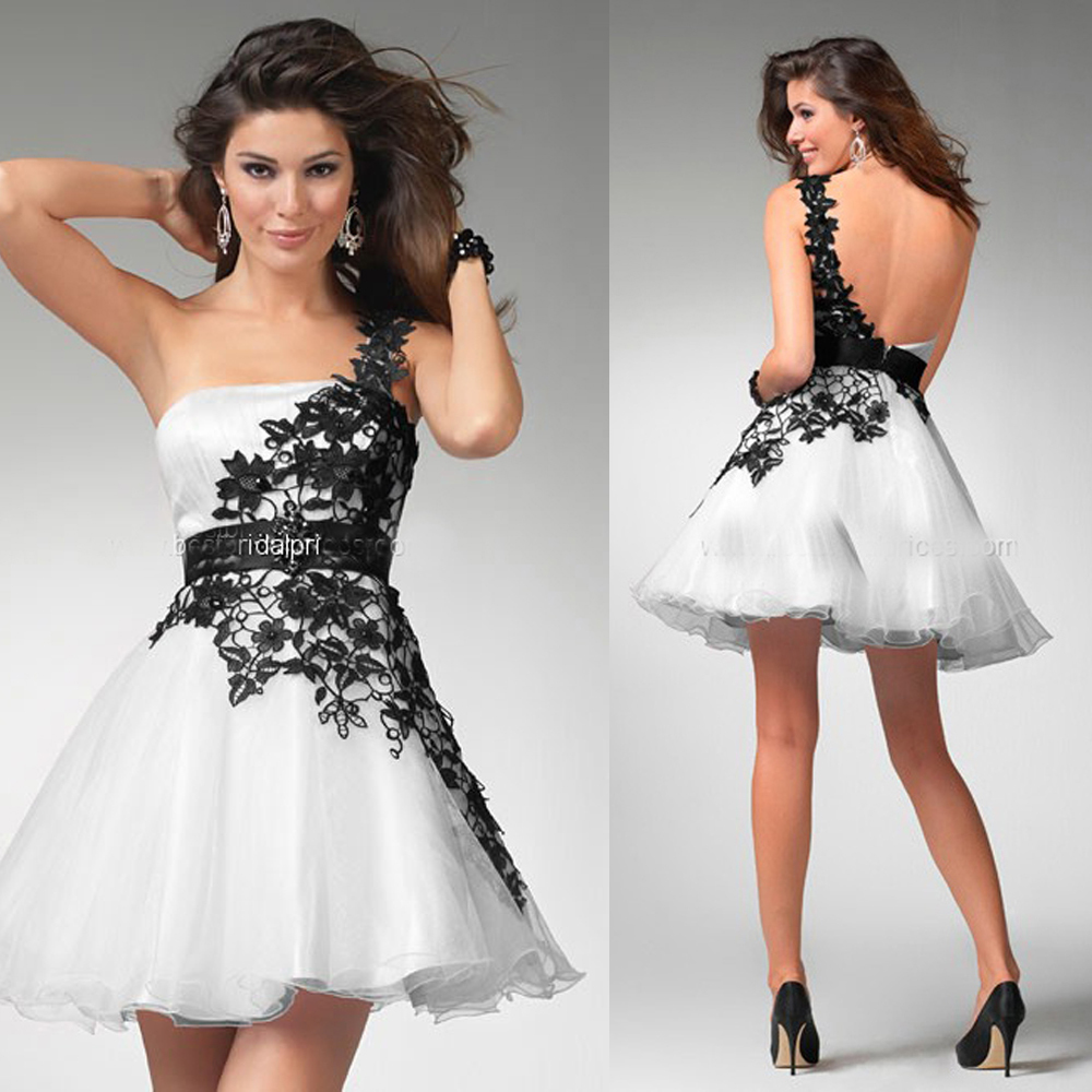 92d613c622 White And Black Semi Formal Dresses