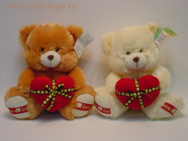 Valentine Devil Bear Plush Toy With Red Heart/Teddy Bear Valentineu0027s Day  Stuffed Animal
