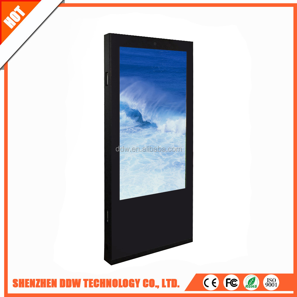 Newest factory supply MP4 4k lcd player double network full hd digital signage with replaceable touch frame