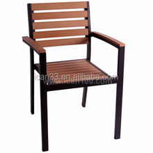 Outdoor cafe brown aluminum cheap outdoor plywood chairs ( PWC-305)