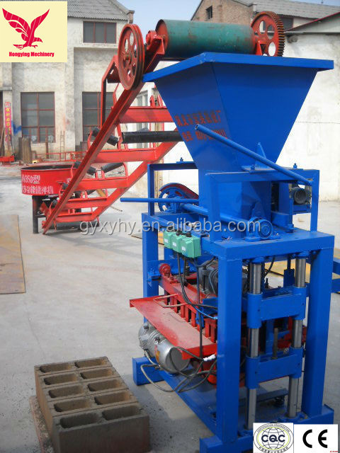 3000-4000 pieces per day QMJ4-35C mini foam concrete brick plant