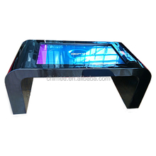 capacitive 4 points touch screen interactive led coffee table 42 inch touch table digital signage media
