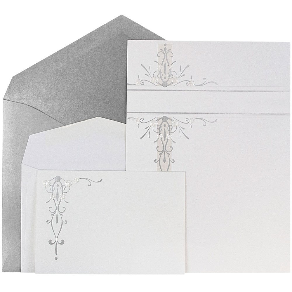 Cheap wedding invitation envelopes find wedding invitation get quotations jam paper wedding invitation combo set 1 small 1 large set white filmwisefo
