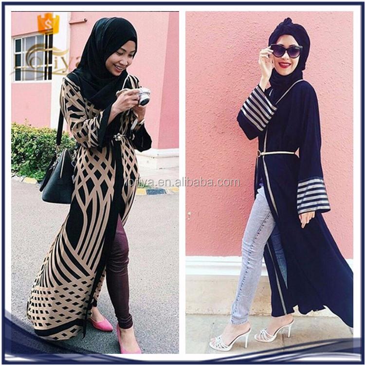e31fcbe23d8b Wholesale Everyday Muslim Tops For Ladies Front Open Coat Cheap Dubai Abaya  2016