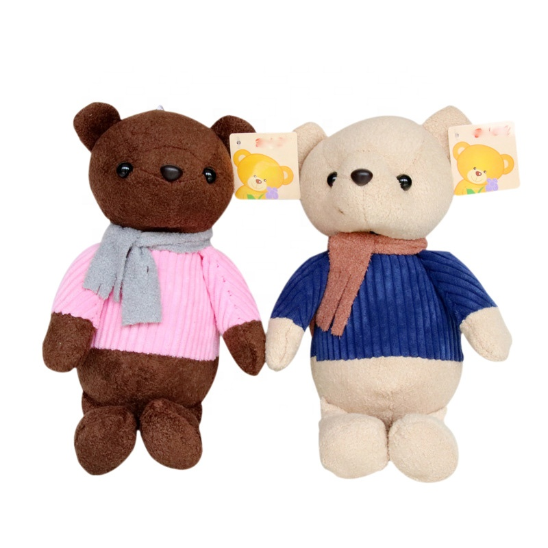Custom Multiple colors <strong>plush</strong> stuffed knitted teddy bear sweaters