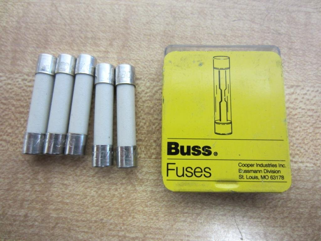 Fuse 250V 5-In Tin Ul Listed 5 Pack Bussmann ABC-1 1 Amp Fast Acting Ceramic Tube Elect