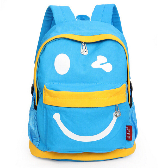ShineStar Children Cartoon Cute School Bags Boys and Girls Kindergarten Canvas Backpack 2015 New Casual Hot Shoulder Bags LY068