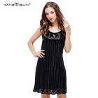 3722ca2a4a New Design retro vertical fringe black sequin women tube party dress  beading patterns ladies evening dresses
