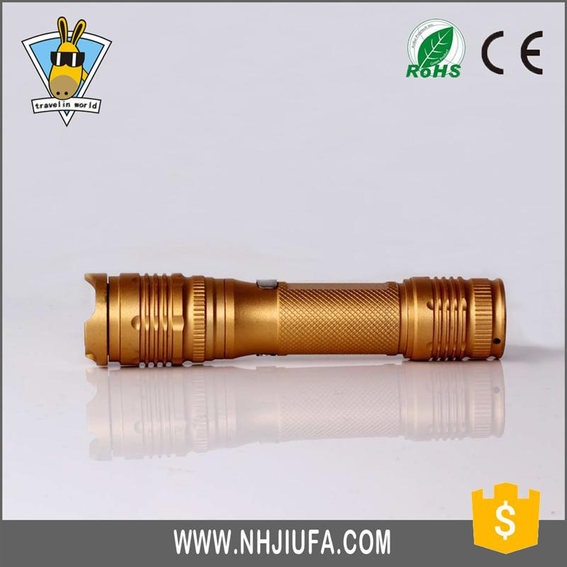 Multifunctional survival flashlight rechargeable lithium torch
