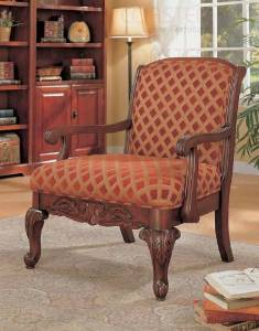Coaster Accent Seating Upholstered Chair in Cherry with Chenille Fabric- 900222
