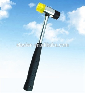 Two-way plastic mallet , Soft Face Hammer with steel handle