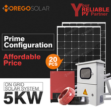 Moregosolar 5kw on grid solar power system home with solar energy