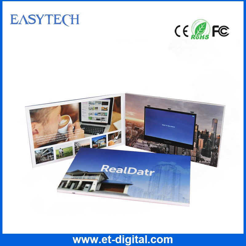 "128MB A5 5""7"" Business gift video brochure booklet/LCD screen video brochure/video brochure catalogue for presentation"
