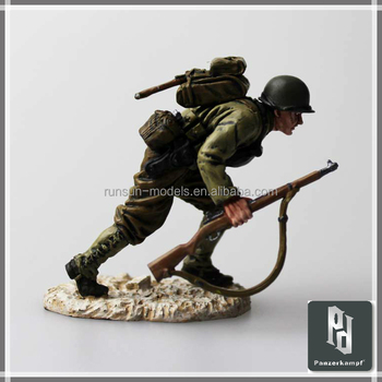 1:35 Scale WWII Omaha Beach 1944 U.S. Army 29th Infantry Division Pewter Metal Soldier