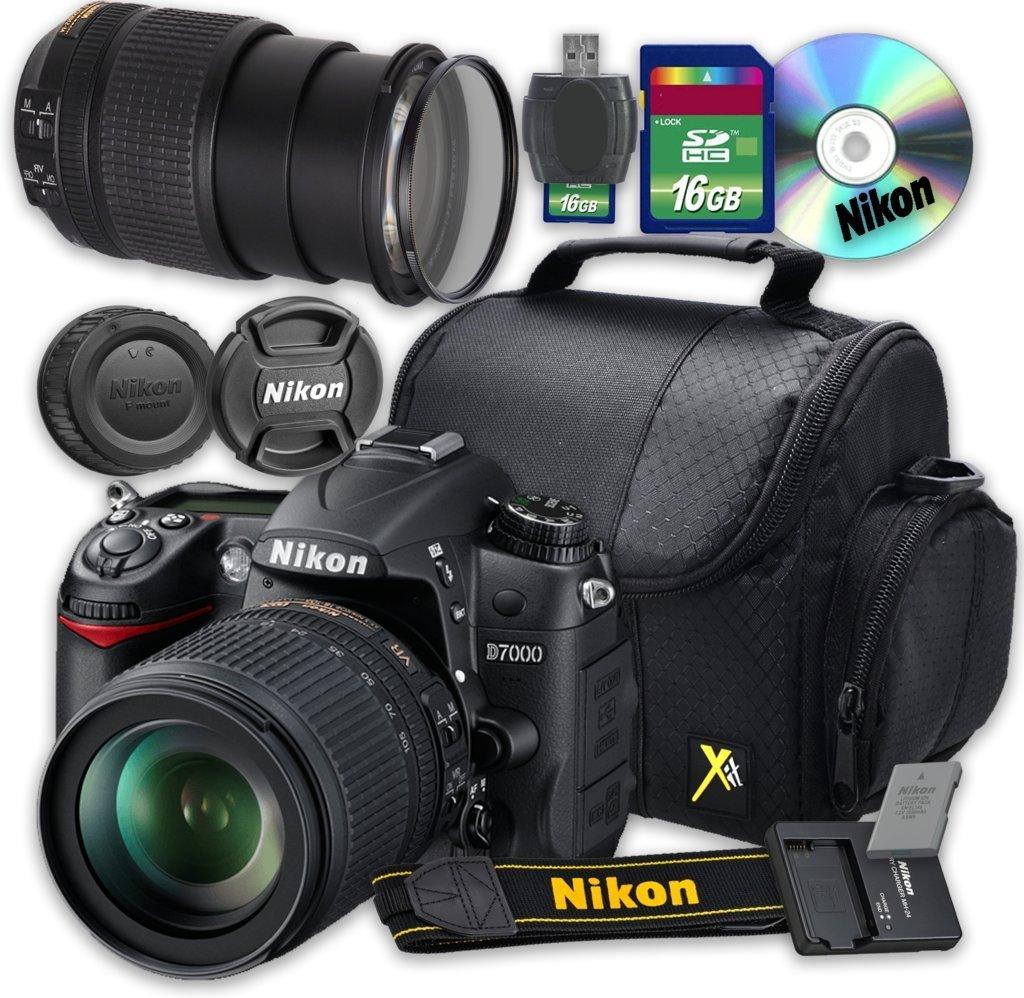 Nikon D7000 DSLR Camera with Nikon AF-S DX NIKKOR 18-140mm f/3.5-5.6G ED VR Lens + 16GB Memory SD Card + Accessory Kit - International Version (No Warranty)