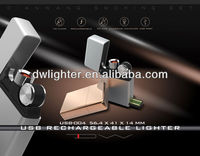 Top quality usb recharged lighter rechargeable cigarette lighter fashionable lighter usb function lighter