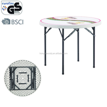 3ft white/black stackable HDPE pub folding table with umbrella hole wholesale