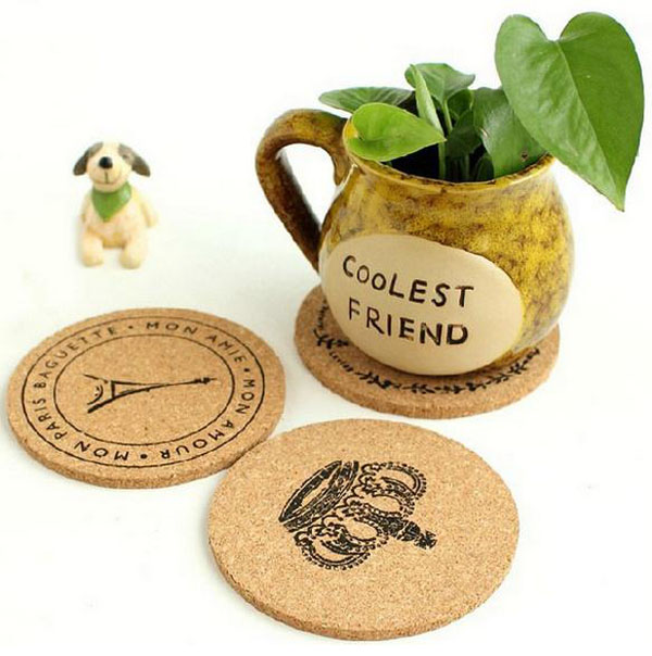 New Cute cork wooden Coffee / Cup Coaster / Tea Mat & pads / fashion style