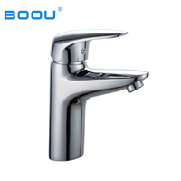 Boou China Factory Supply Single Handle Zinc Lavatory Faucet, Bathroom Wash Basin Faucet