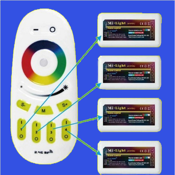 2.4G RF multi channel wireless RGB led controller elo touch controller