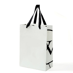 Oem Mini Luxury Retail Paper Shopping Bag White Gift Cosmetic Paper Bag Christmas With Ribbon Handle
