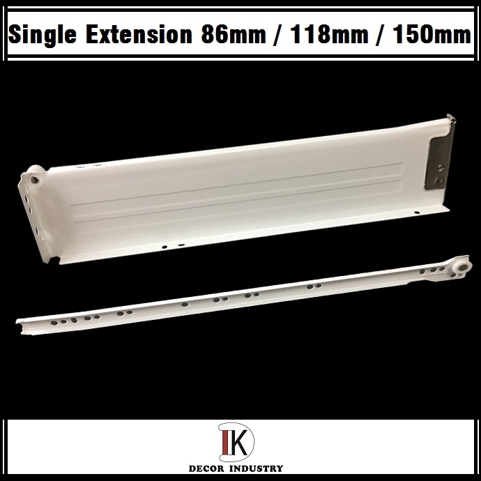 Kitchen Hardware Fitting Metal Box Drawer Slide 86mm