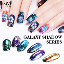 L & M chiodo fabbricazione Galaxy ombra del chiodo <span class=keywords><strong>gel</strong></span> polish private label oem nail polish all'ingrosso