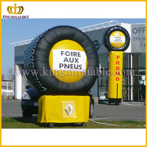 Famous brand inflatable advertising tyre balloon ,inflatable tire replicas