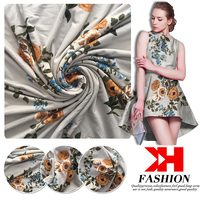 Best selling polyester rayon fabric digital printed foil printed fabric