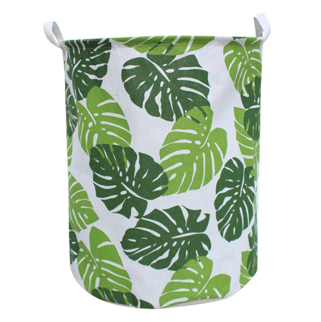 Hongxin Clothes Storage Basket, Waterproof Sheets Laundry Clothes Laundry Basket Storage Basket Folding Storage Box (E)