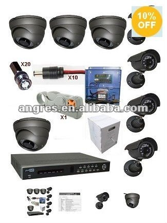 8 Channel Video Security DVR and Camera Package System