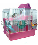 pet supply fold plastic hamster cage with plastic tray toys color box