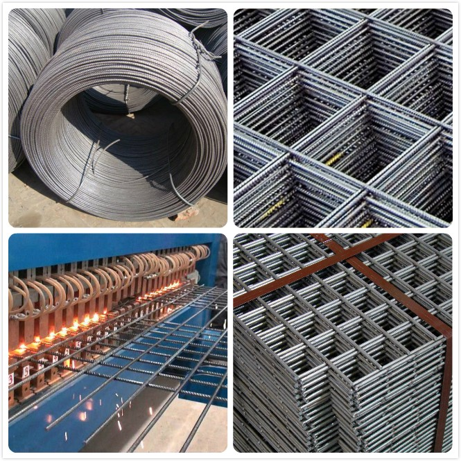 4x4 Reinforcing Welded Steel Wire Mesh Concrete Fence