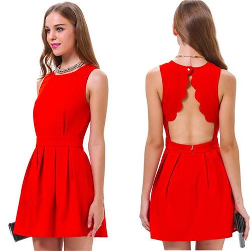 39fbbb4793 Get Quotations · Womens Casual Dresses Cotton Material Sleeveless Backless  Summer Red Dresses Dresses Cheap Dresses Online New Arrival