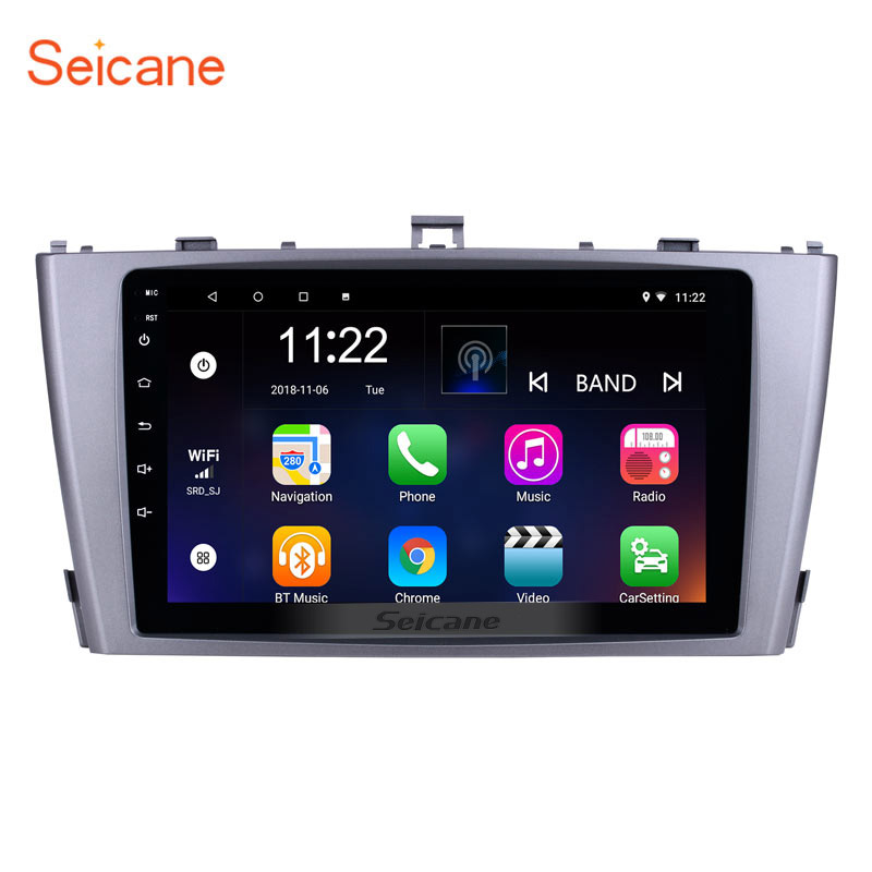 Android 8.1 GPS Navigation 9 inch Radio for 2009-2013 Toyota AVENSIS with 1024*600 Touchscreen Bluetooth Phone Wifi Mirror Link