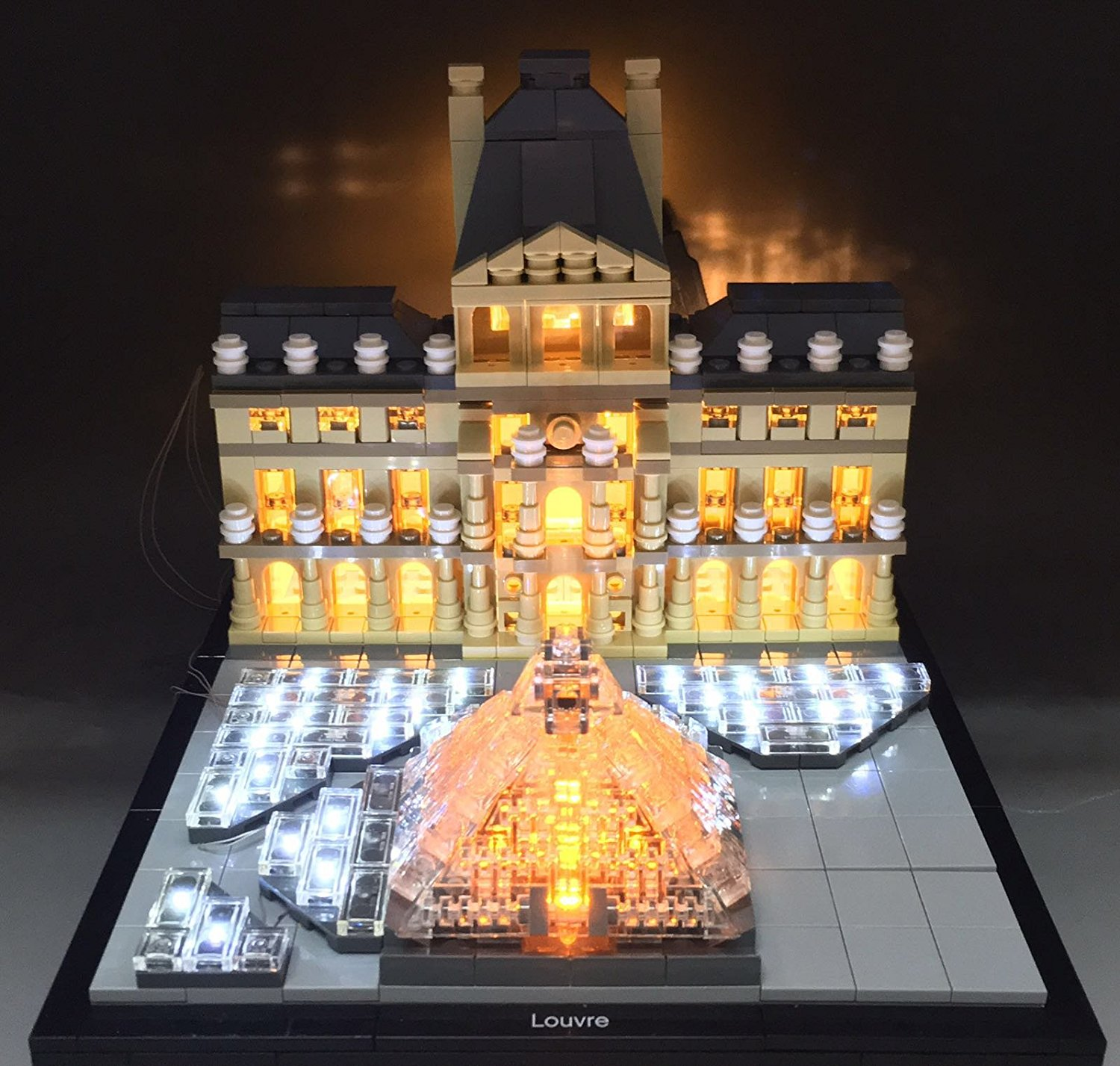 lego lighting. Get Quotations · Louvre Lighting Kit For Lego 21024 Set (LEGO Not Included) By Brick Loot T