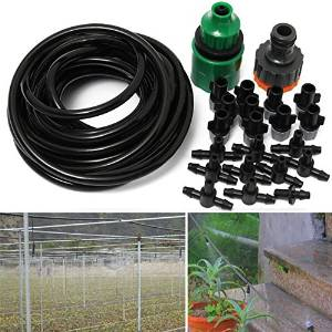 5m 16ft Outdoor Garden Misting Device Cooling System 10pcs Mist Nozzle Sprinkler Drip Irrigation / Describtion: . 5m 16ft Outdoor Garden Misting Device Cooling System 10pcs Micro Nozzle Sprinkler