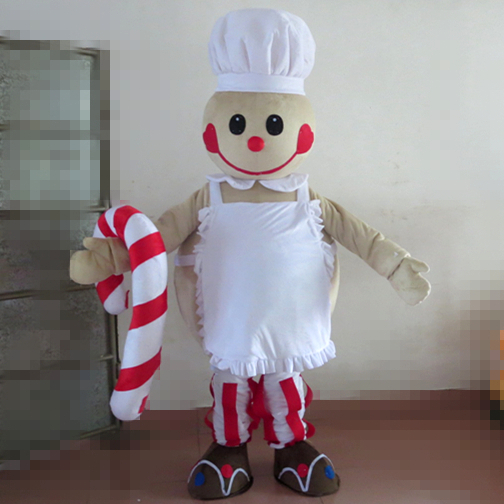 New Gingerbread Man costume Gingerbread cook mascot costume