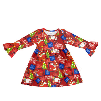 long sleeve ruffle buffalo plaid dress toddler christmas dress