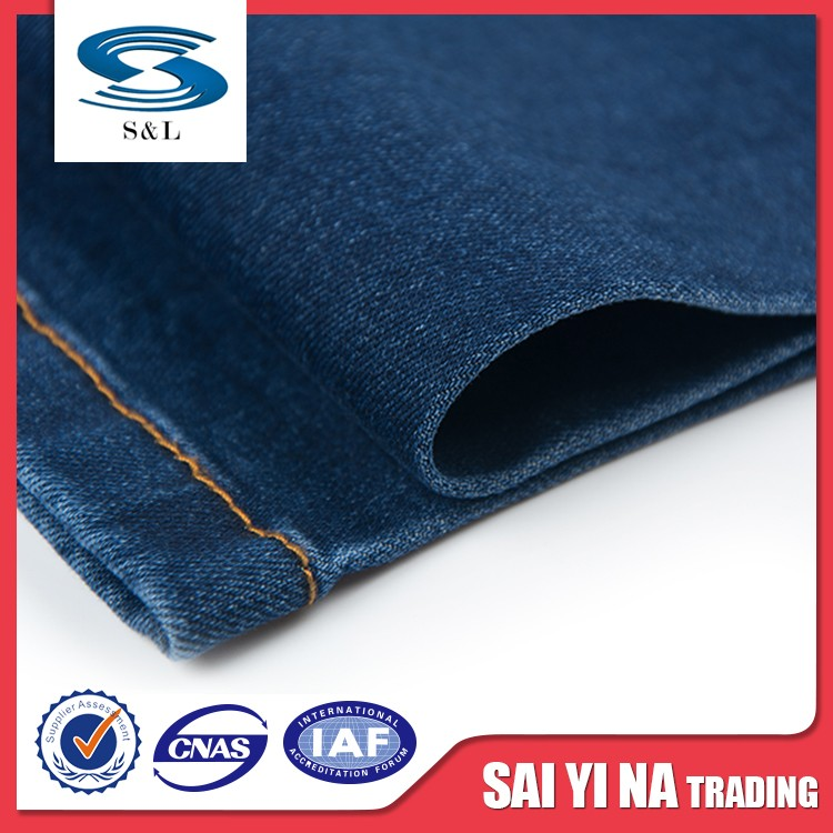 Cheap fashionable shrink-resistant jeans fabric in rayon cotton of jeans