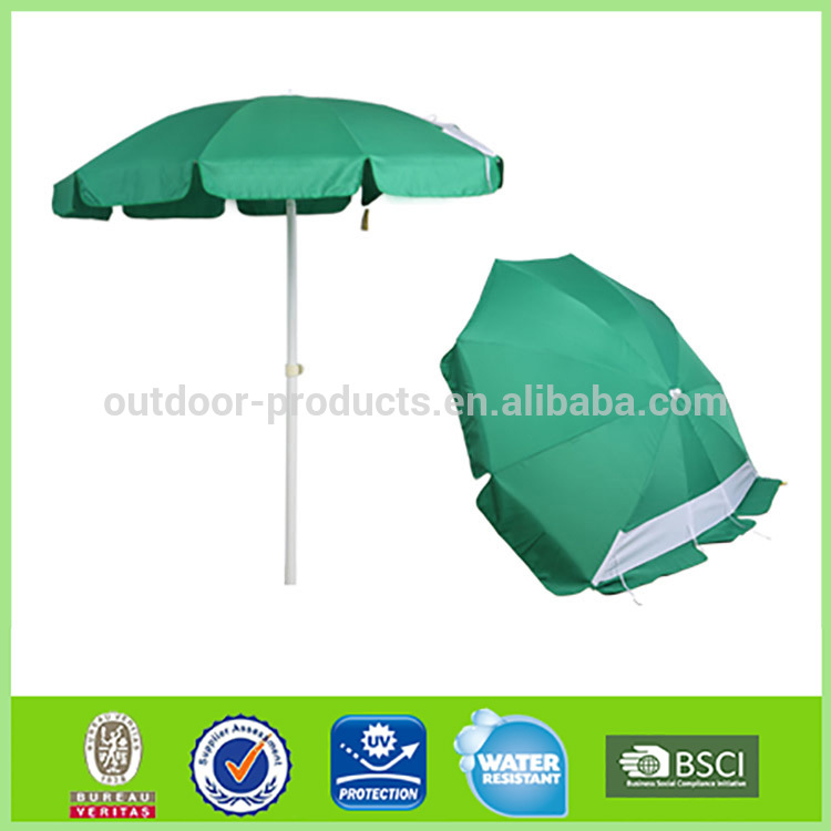 High quality Adjustable Parasol 8 steel ribs advertising sun beach umbrella with crank