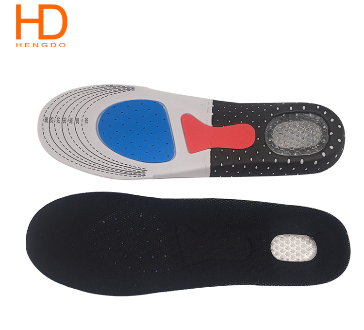 Comfort shock absorption reusable EVA sports cushion insoles