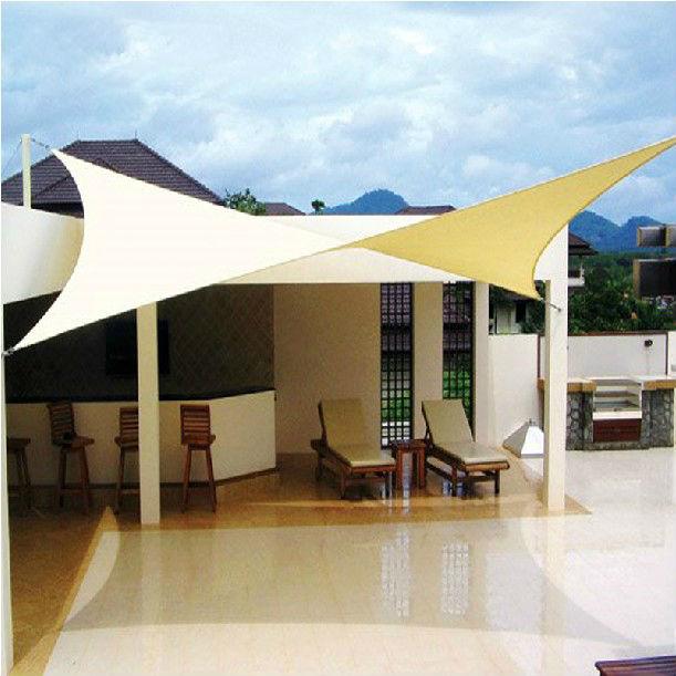 Rectangular Polyester Sun Shade Sail Canopy 200 Gr Sqm Waterproof Folding Nylon Rain