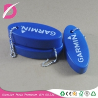 Personalized PU Foam floating key chain keychain floated key ring chains