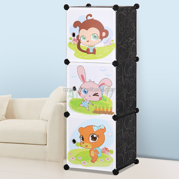 Triveni Almirah Diy Plastic Cabinet Kids Wardrobe India 3 Door