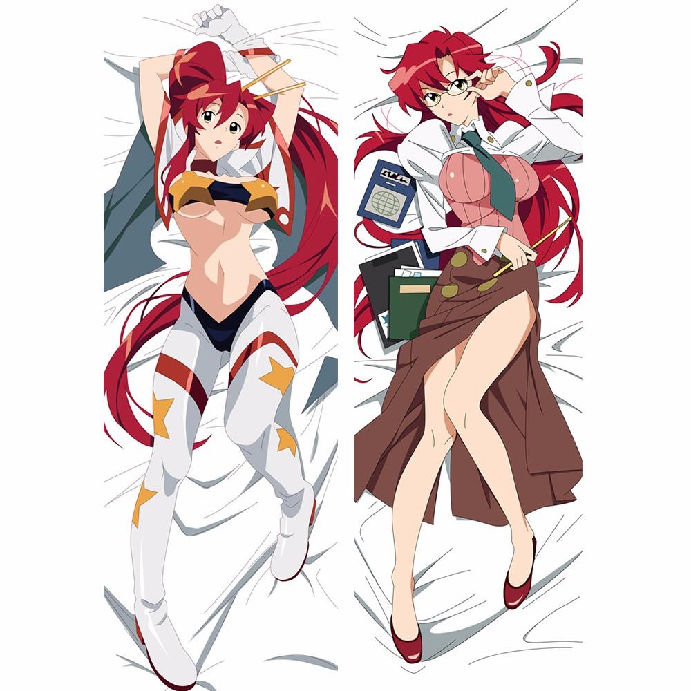 tengen toppa gurren lagann yoko littner anime pillowcase cartoon