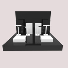Black and white 아크릴 MDF 보석 counter <span class=keywords><strong>디스플레이</strong></span> set earring <span class=keywords><strong>링</strong></span> necklace display 랙 unit