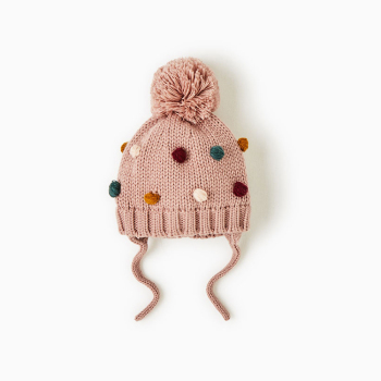 98d0de2776b Baby Girls Cute Custom Funny Winter Kid Pom Pom Knit Beanie Hats ...