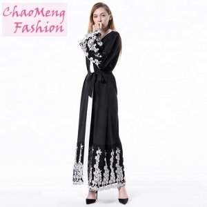 1609# New arrival hot sale abayas muslim arab hijab indian ethnic wear tanzania islamic abaya